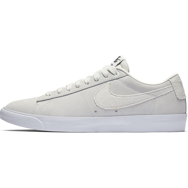 Nike SB Zoom Blazer Low GT Skate Shoes - Summit White/Summit White-Obsidian