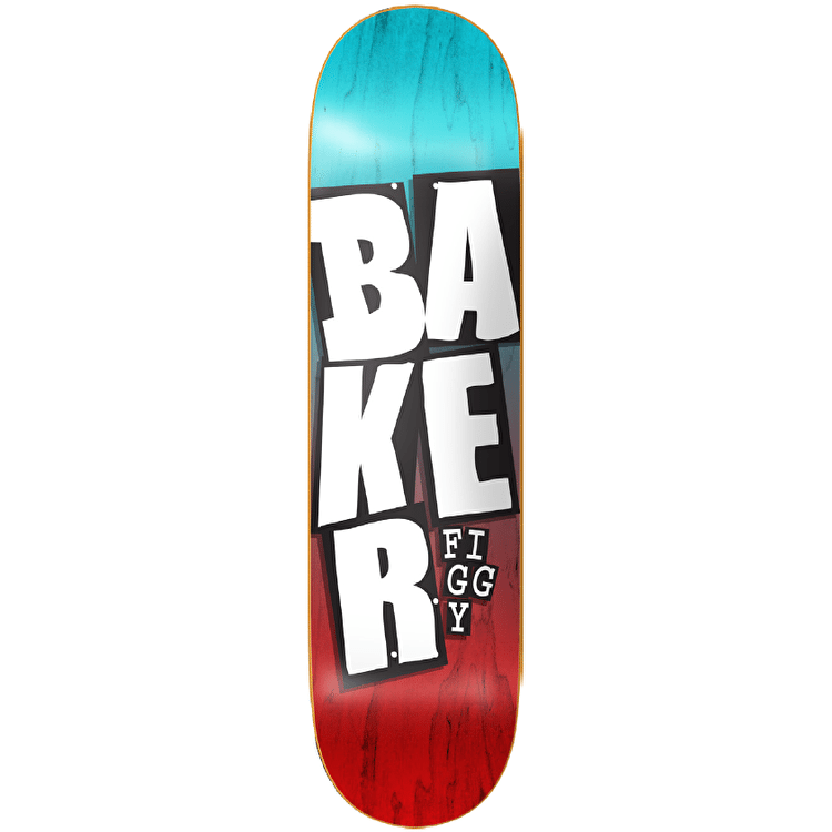 Baker Stacked Name Skateboard Deck - Figgy 8.25""