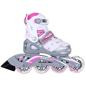 B-Stock Bladerunner Kids Inline Skates - 2016 Phaser Silver/Pink UK 4-7 (Box Damage)