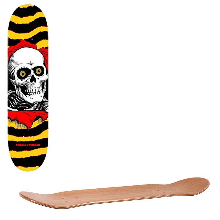"""Powell Peralta One Off Ripper Skateboard Deck - Yellow/Red 7.0"""""""