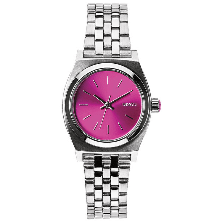 Nixon Small Time Teller Watch - Pink Sunray