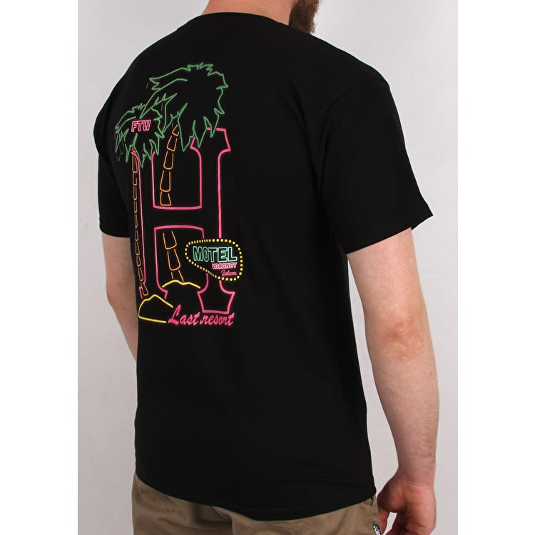 Huf Motel Gnd T-Shirt - Black