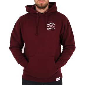 Diamond Supply Co Athletic Hoodie - Burgundy