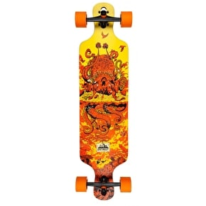 D-Street Underwater Beached Drop Through Longboard - Orange 39
