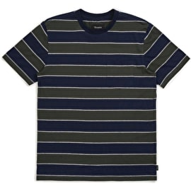 Brixton Hilt Washed Pocket T Shirt - Pine/Navy