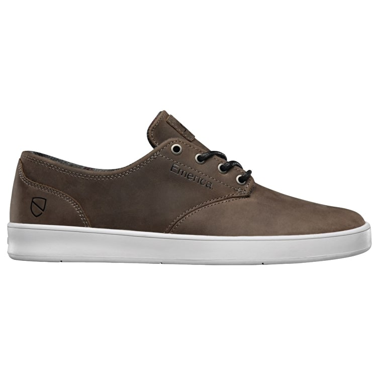 Emerica X Eswic The Romero Skate Shoes - Brown/White