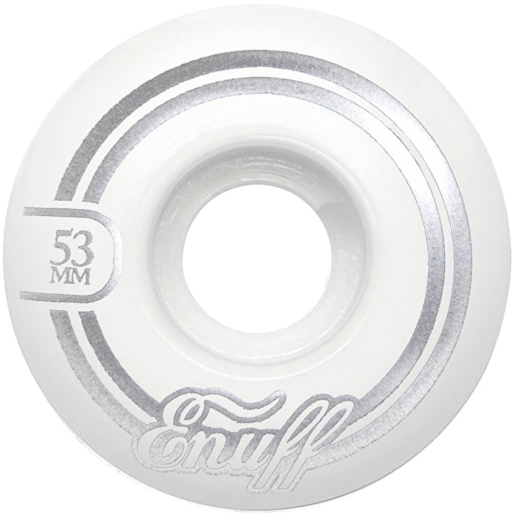 Enuff Refresher II 55D Skateboard Wheels - White