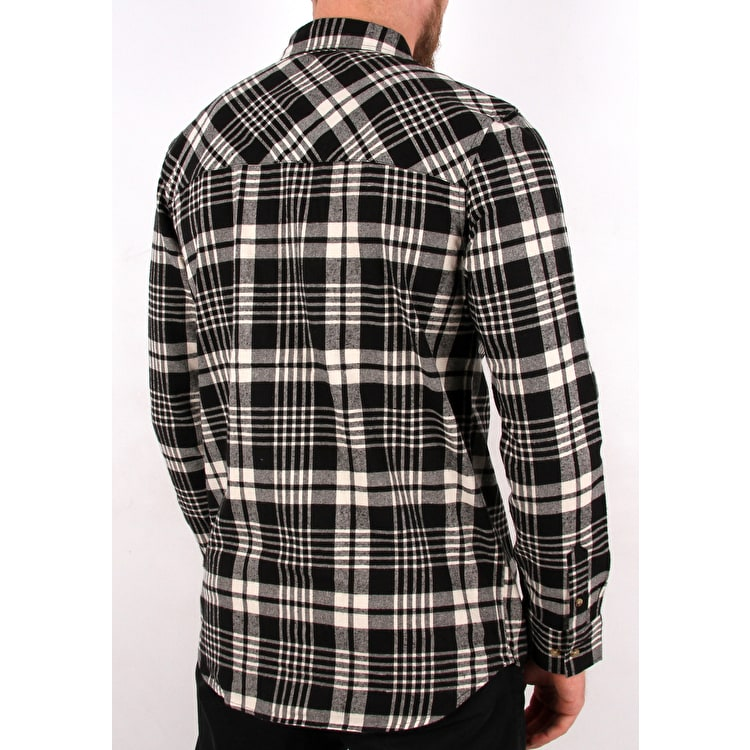 Grizzly Boulder Woven Long Sleeve Shirt - Black