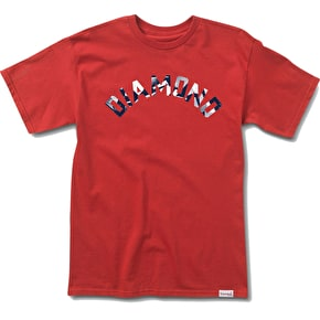 Diamond Simplicity Arch T-Shirt - Red