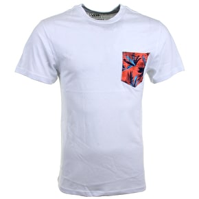 Vans Acid Palm Pocket T-shirt - White