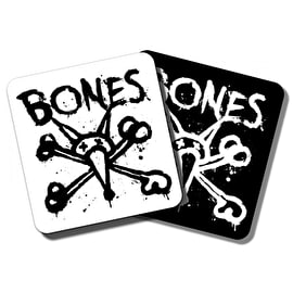 Bones Wheels Vato Op Square Skateboard Sticker - 4