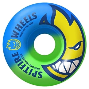 Spitfire Bighead Split Swirls Skateboard Wheels - Blue/Green 51mm