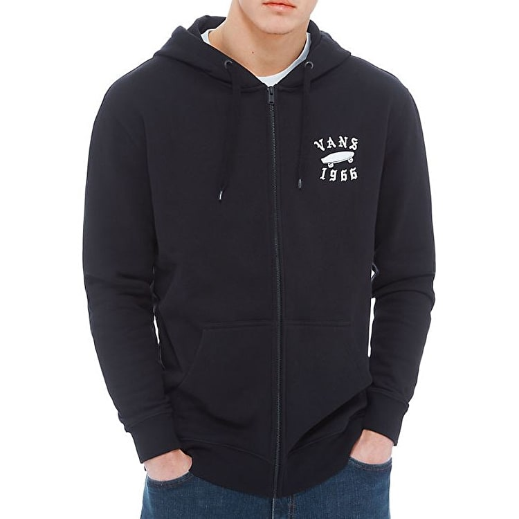 Vans Stitched Fleece Zip Hoodie - Black