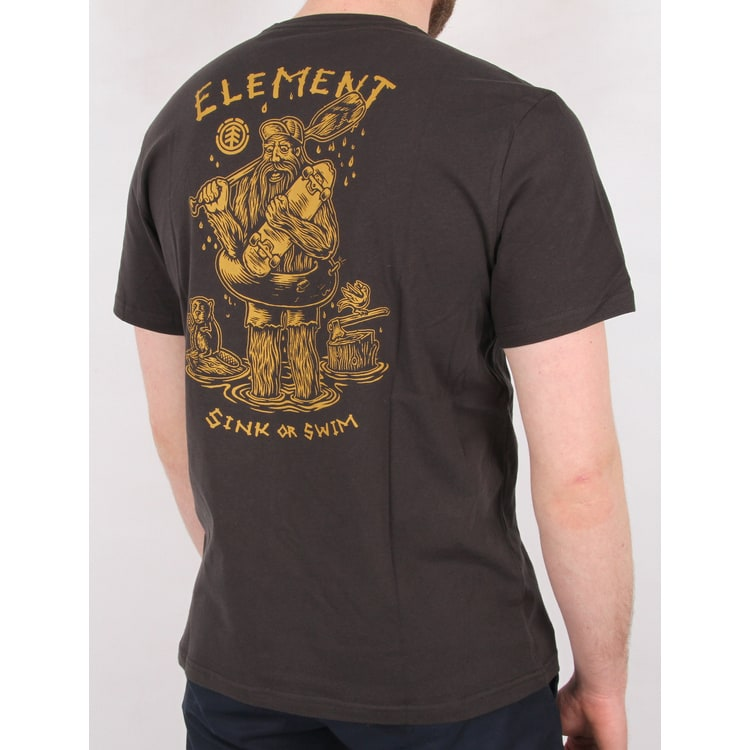 Element River Keeper T Shirt - Off Black