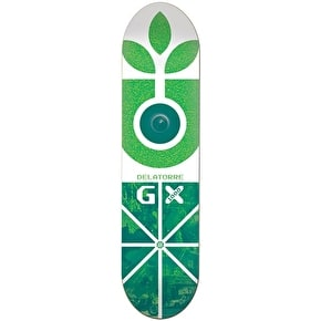 Habitat Skateboard Deck - GX Delatorre Green/White 8.125