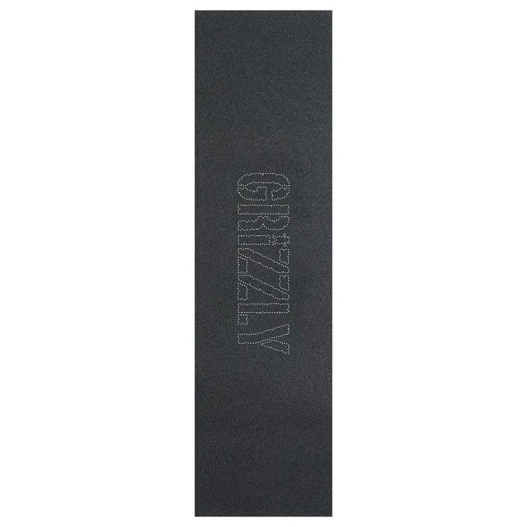 Grizzly Removable Stamp Skateboard Grip Tape - Black