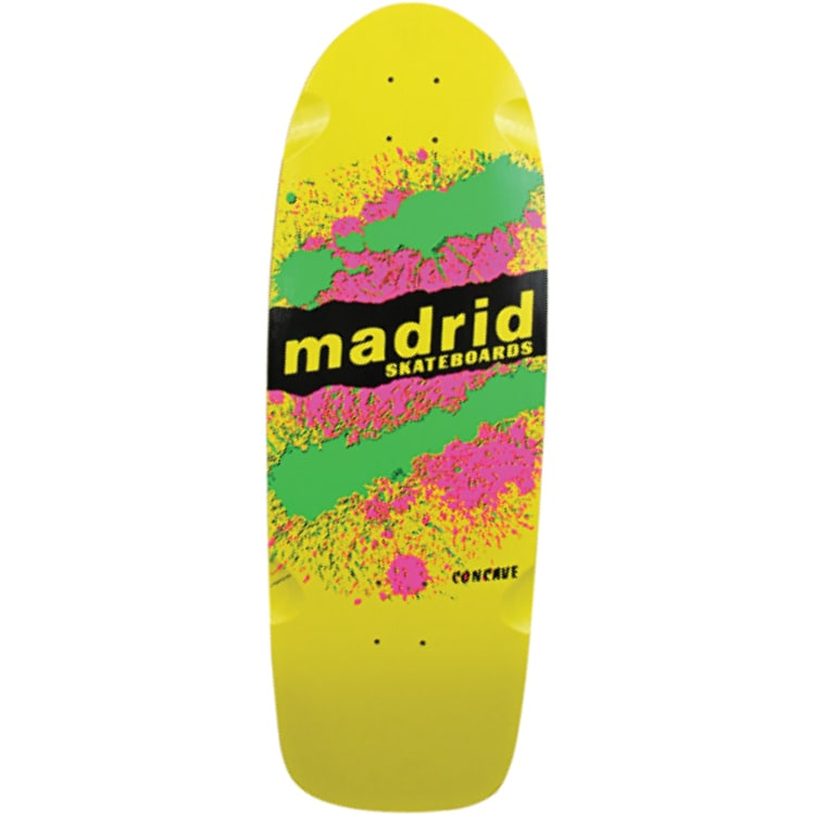 Madrid Explosion Skateboard Deck Yellow - 9.5""