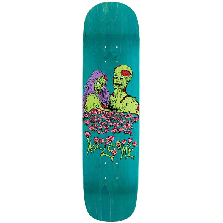 """Welcome Zombie Love - Yung Nibiru Skateboard Deck 8.25"""" - Various Stains"""