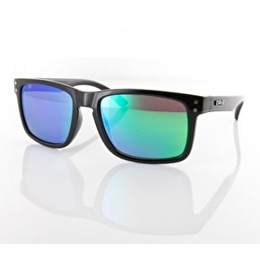 Carve Goblin Sunglasses - Black/Green Revo