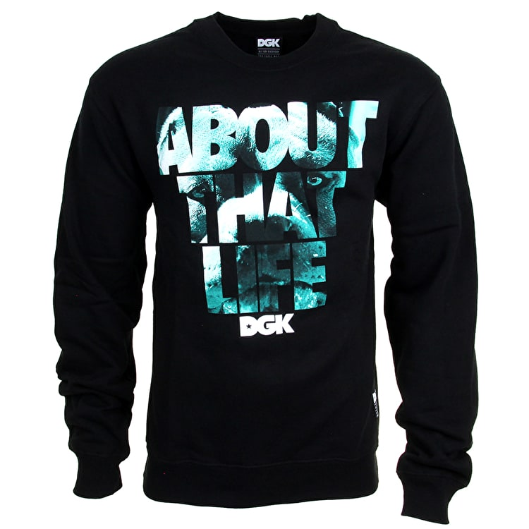 DGK About That Life Crewneck - Black