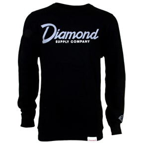 Diamond Touch Down Crewneck - Black