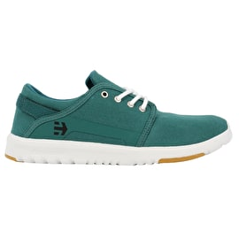 Etnies Scout Skate Shoes - Green/White/Black