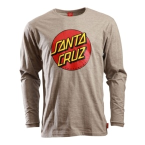 Santa Cruz Longsleeve T-Shirt - Classic Dot Dark Heather