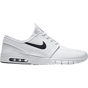 Nike SB Stefan Janoski Max L Shoes - White/Black