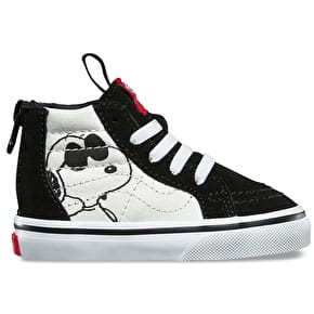 Vans x Peanuts SK8-Hi Zip Toddler Shoes - Joe Cool/Black