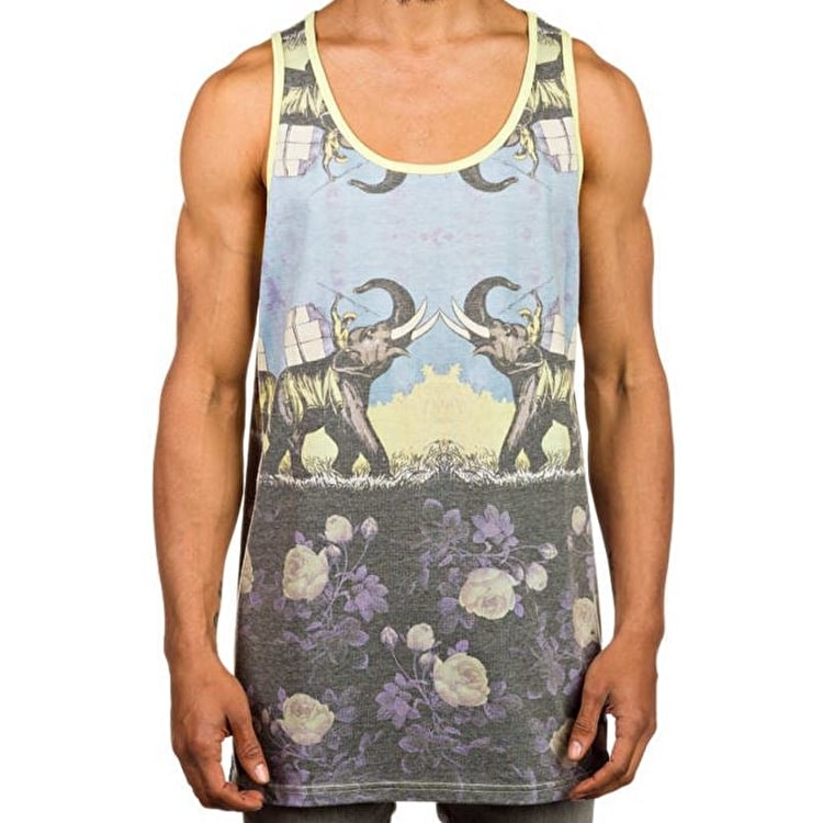 Neff World Travellers Tanktop - Black/Yellow