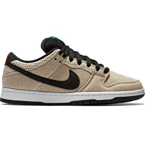 Nike SB Dunk Low Premium QS Shoes - Bamboo/Black