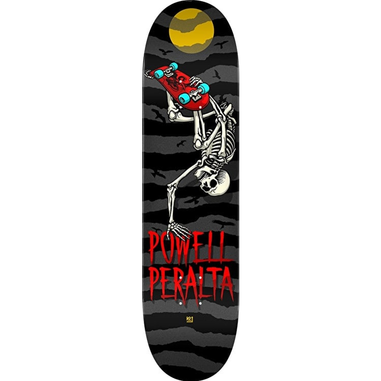 Powell Peralta Handplant Skelly Skateboard Deck - Charcoal 8.0""