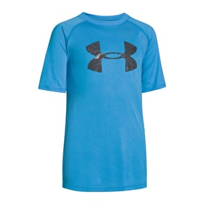 Under Armour Tech Big Logo SS T-Shirt - Pool Blue/Graphite