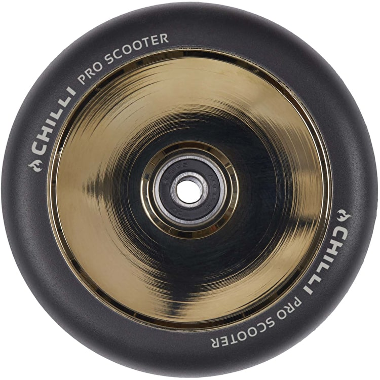 Chilli Pro Fullcore 120mm Scooter Wheels w/Bearings - Black/Gold