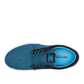 Supra Hammer Run Shoes - Black/Blue Atoll
