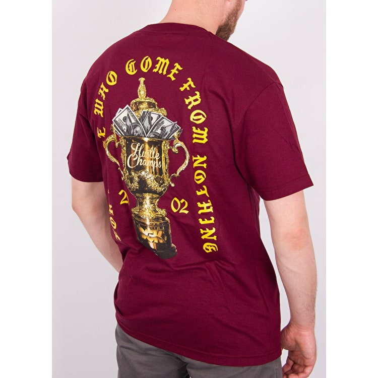 DGK Hustle Champs T-Shirt - Burgundy