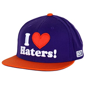DGK Haters Snapback Cap - Purple/Orange