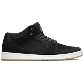 ES Accel Slim Mid Skate Shoes - Black/White/Gum