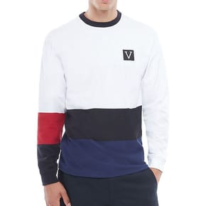 Vans Chima Colourblock LS T-Shirt - White