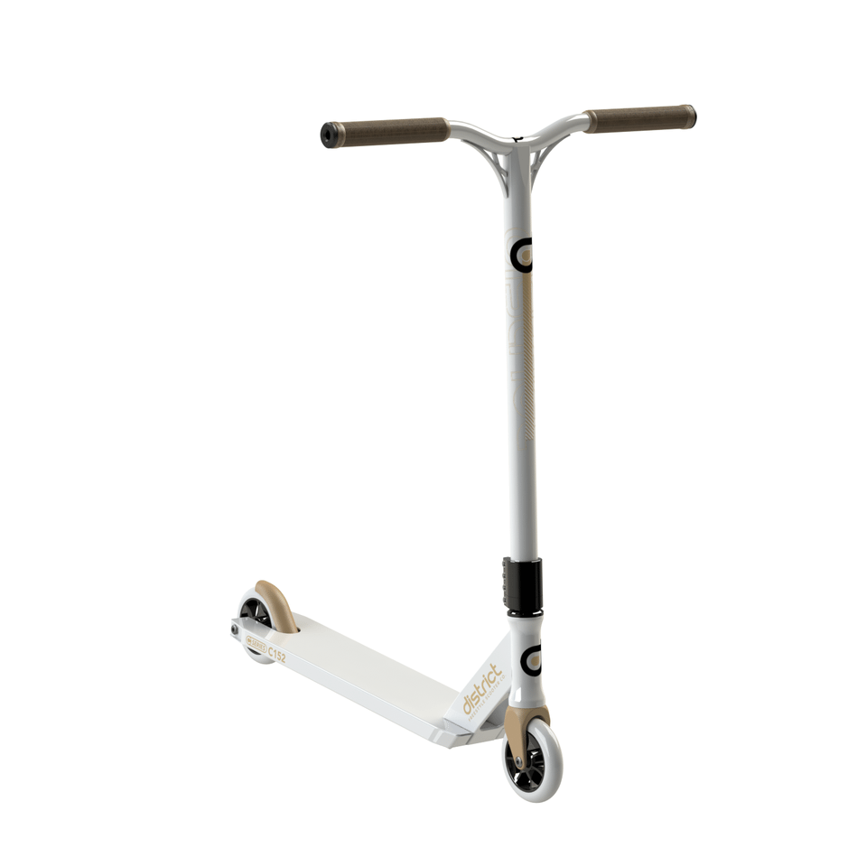 Image of District C-Series C152 Complete Scooter - White/Gold