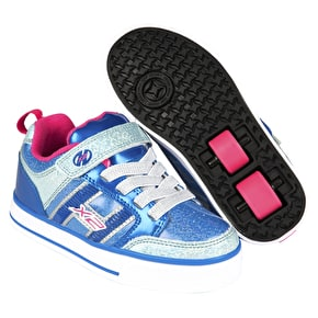 B-Stock Heelys X2 Bolt Plus - Ice Blue/Silver/Pink J13 (Cosmetic Damage)