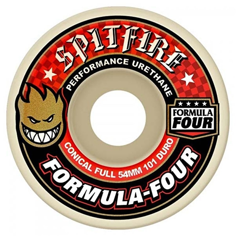 Spitfire Formula Four Conical 101a Skateboard Wheels - 54mm (Pack of 4)