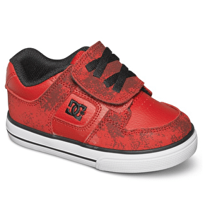 DC Pure V Toddler Shoes - Athletic Red/Black