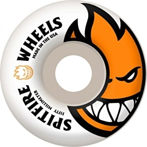 Spitfire White Skateboard Wheels Bighead - Orange 50mm (Pack of 4)