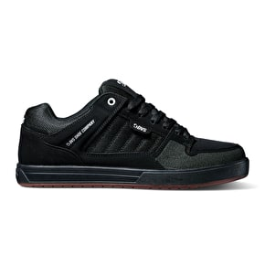 DVS Portal Skate Shoes - Black Leather