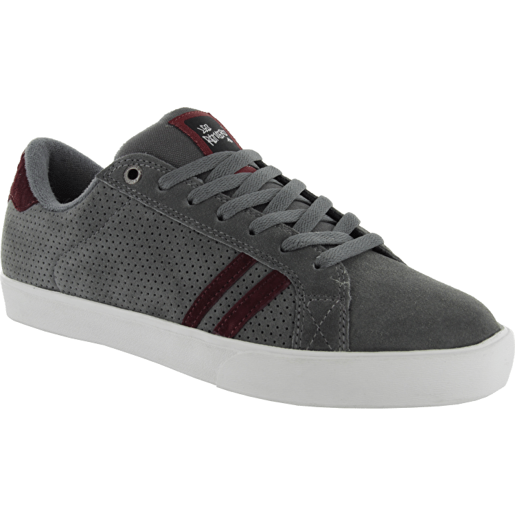 Emerica The Leo Skate Shoes - Dark Grey/Red
