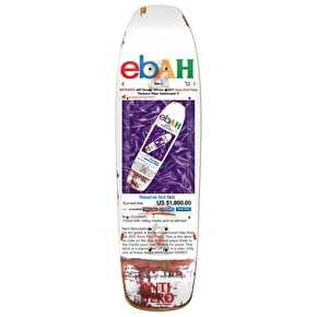 Anti Hero Grosso Ebah Pool Party Skateboard Deck - White 8.5