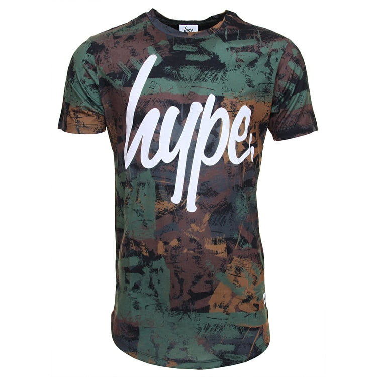 Hype X Urban Decay Brushed T-Shirt - Camo/white