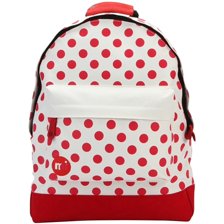 mi pac all polkadot backpack natural red all mi pac backpacks