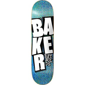 Baker Stacked Skateboard Deck - Holo Blue 8.5